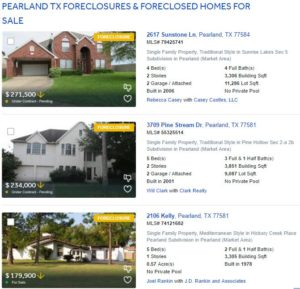 Foreclosures Dont Happen Often In The Pearland Tx Market